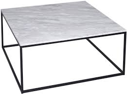 westminster white marble coffee table square with black base