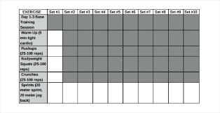 Exercise Logs Template Workout Logs Excel Bodybuilding Workout Log Template Workout Logs