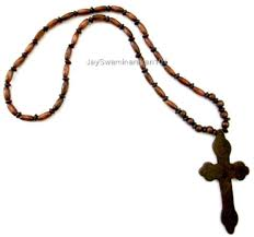 necklace for men wooden cross view larger