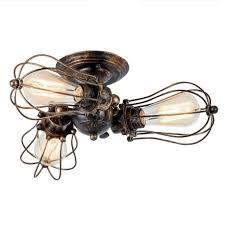 Vintage Designer Deckenlampe Schwarz Rund Eisen Kü