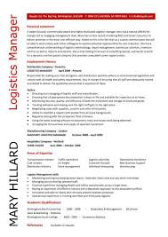 Logistics Manager resume 5 ...