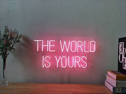 Neon Signs For Home Decor Amazon The World Is Yours Real Glass Neon Sign For Bedroom 29