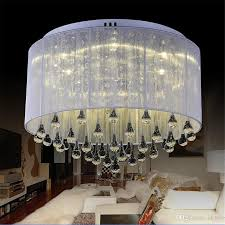 modern fashion fabric ceiling light chandelier light crystle silver pendant lamp crystal ceiling light living room bedroom with 449 53 piece on