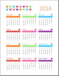 Academic Calendar Templates 2016 2017 Templateinn