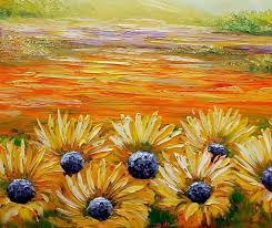 landscape painting sunflower field painting wall art contemporary art canvas wall art  on sunflower wall art canvas with landscape painting sunflower field painting wall art contemporary