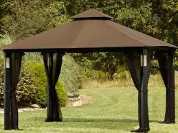 sears monaco gazebo replacement canopy by sears whole home 10 x 10 cabin style gazebo garden