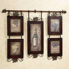 Wine Themed Kitchen Kitchen Awesome Rustic Country Kitchen Wall Decor With Brown