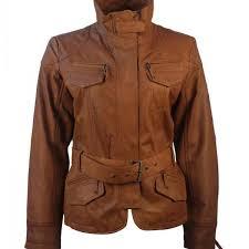 cafe racer brown vintage leather jacket women 1
