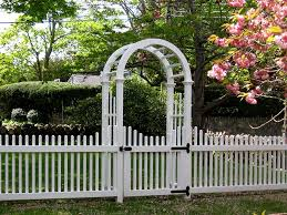 picket fence gate with arbor. Chestnut Hill Arbor And Fence Picket Gate With T