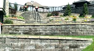 how much concrete per square foot retaining wall cost image of amazing concrete block retaining wall