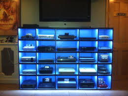 video game room furniture. video game console shelving classic games collection gameroom vintagegaming techvana nintendo pinterest room furniture