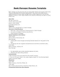 Template Resume Templates Banking Professional Fresh Bank Executive