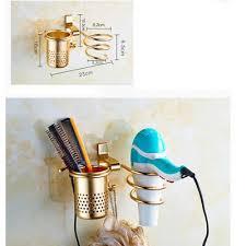Wall-Mounted <b>Hair</b> Dryer Storage <b>Rack</b> Comb Bracket Bathroom ...