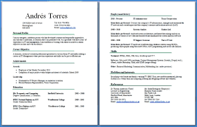 2 page resume sample