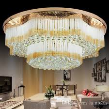new design royal led crystal round rectangle chandeliers light k9 crystal pendant chandelier ceiling lamp hotel villa project chandelier round surface