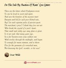 by auction of keats love letters poem
