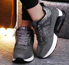 2019 fashion women casual shoes heel leather wedge sneakers platform shoes autumn height increasing black sneakers las platform shoes hiking shoes
