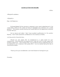 What Is A Good Cover Letter For A Resume How To Make A Good Cover