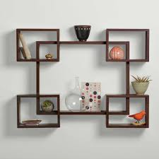 drawer pretty floating wall shelves decorating ideas 15 creative decor for living room with cute symmetric made of veneer chestnut wood designs as well