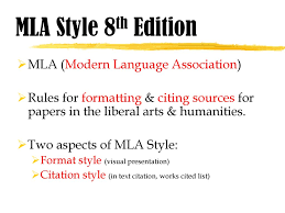 Mla Style 8th Edition Mla Modern Language Association Ppt Download
