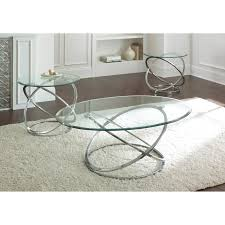amazing silver round coffee table with steve silver orion oval chrome and glass coffee table set