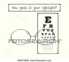Snellen Chart For Eye Test Sharp And Blurred Clip Art
