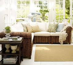 sunroom wicker furniture. indoor sunroom wicker rattern sectional sofa with side table furniture