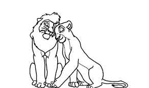 Scar And His Son The Lion King Coloring Page Pages Disney Stitch