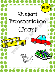 Student Transportation Chart Product From Pink At Heart On