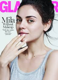 mila kunis goes without makeup for glamour i don t wear makeup