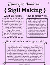 Sigil Chart How To Make A Sigil Tumblr
