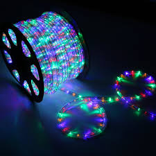 150' RGB Multi-color LED Rope Light - Home Outdoor Christmas ...