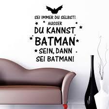 Lustiger Batman Schriftzug Wandtattoo