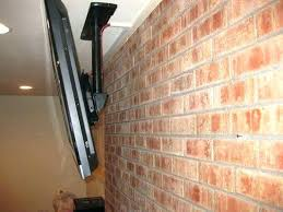 how to mount a tv on brick mount above fireplace no studs mounting brick hiding wires
