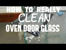 how to really clean your oven door glass window in a jenn air double wall oven
