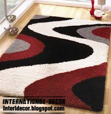 black white and red rug contemporary rug style modern rug model picture