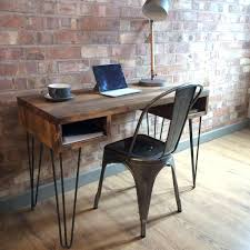 retro office desks. Vintage Office Furniture Uk New Rustic Industrial Style Retro Desk Console Table With Hairpin Legs 76 Appealing Desks