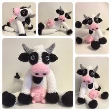 Crochet Cow Pattern Cool Decoration