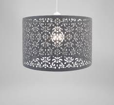 lampshade dark grey metal marrakech living ceiling new
