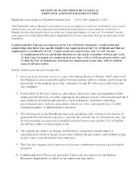 Employee Acknowledgement Form Template Employee Handbook Acknowledgement Form Template Acknowledge