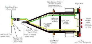 wire a trailer 4 way plug trailer diagram