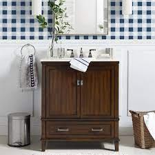 Dorel Living Otum 30 Inch Bathroom Vanity With Sink Dark Walnut Wood Walmart Com Walmart Com