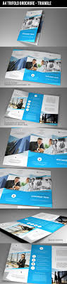 Trifold Brochure Indesign Template Indesign Template A4 Trifold Brochure Triangle On Behance