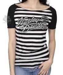 harley davidson womens ice elegant striped raglan black short sleeve shirt sz m