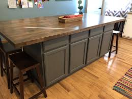 Diy Kitchen Island Made With Stock Base Cabinets And Butcher Block