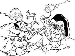 Small Picture Daniel Relaxed with the Lions in Daniel and the Lions Den Coloring