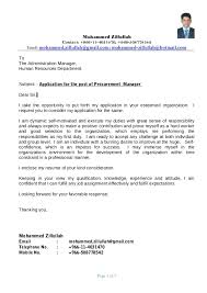 PROCUREMENT MANAGER - RESUME. Mohammed Zillullah Contact: +966-11-4031470;  +966-508778542 Email ...