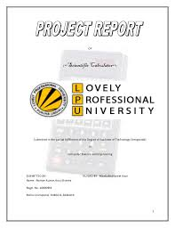 Science Project Report Simple Scientific Calculator In C
