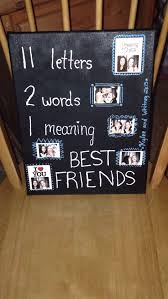 diy bestfriend birthday gift ideas unique this canvas was made by my best friend as i