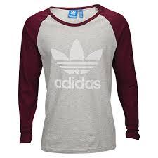 adidas long sleeve. adidas originals essentials long sleeve t-shirt - men\u0027s casual clothing medium grey heather/maroon